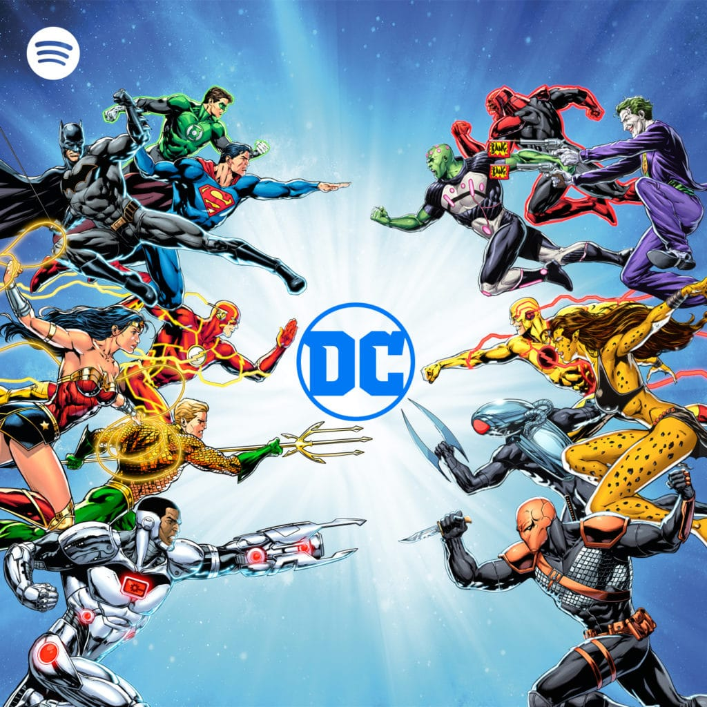 Alianza de Spotify, Warner Bros y DC Comics